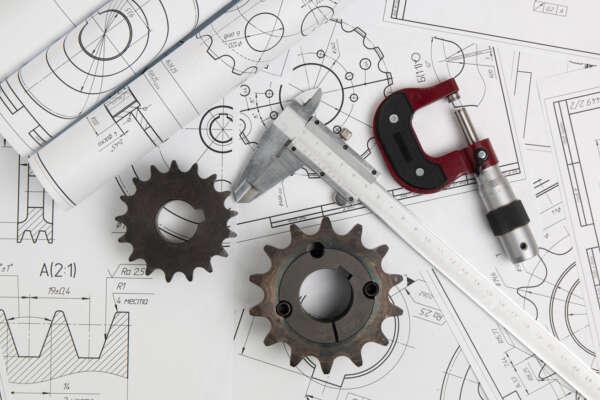 Driving sprockets caliper micrometer engineering drawings industrial parts mechanisms